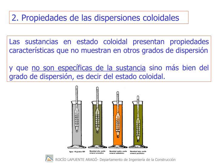 2. Propiedades de las dispersiones coloidales