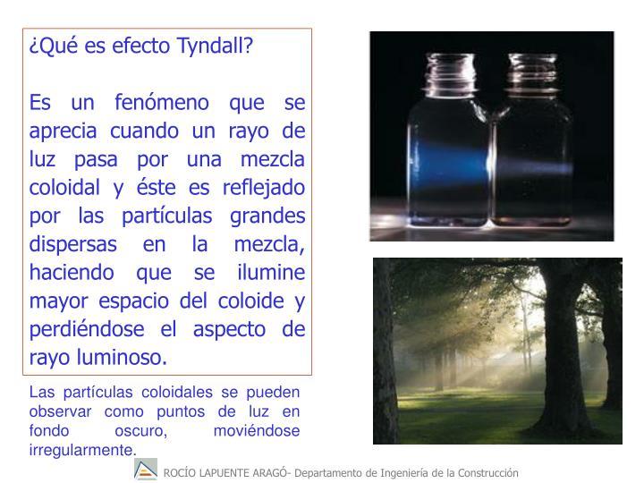 Qu es efecto Tyndall?