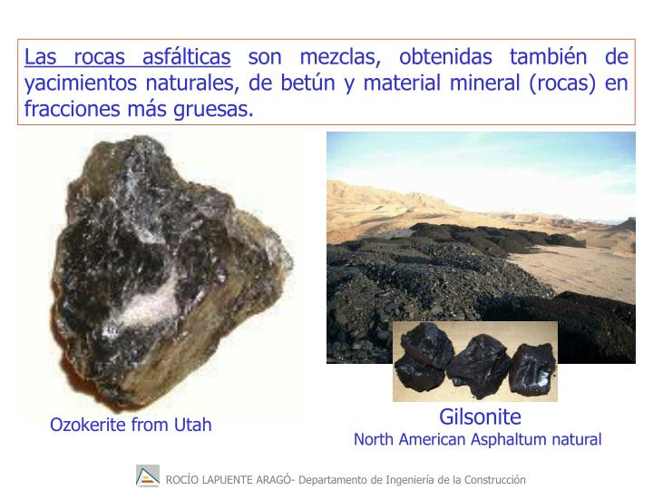 Las rocas asfálticas