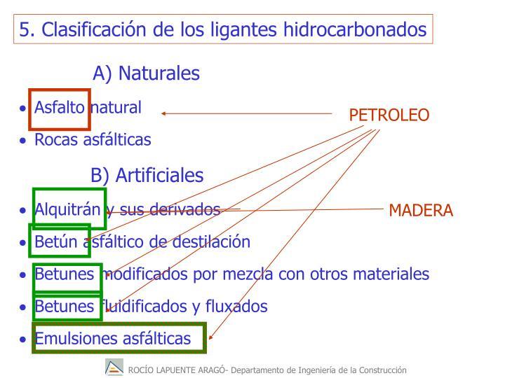5. Clasificacin de los ligantes hidrocarbonados
