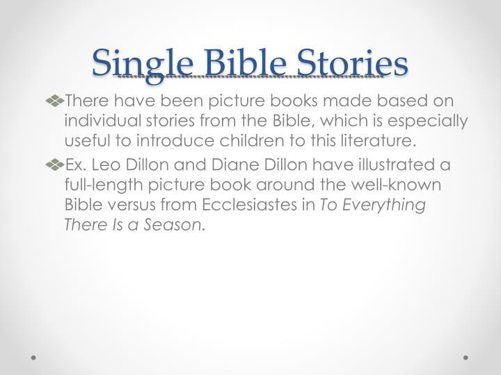Single Bible Stories