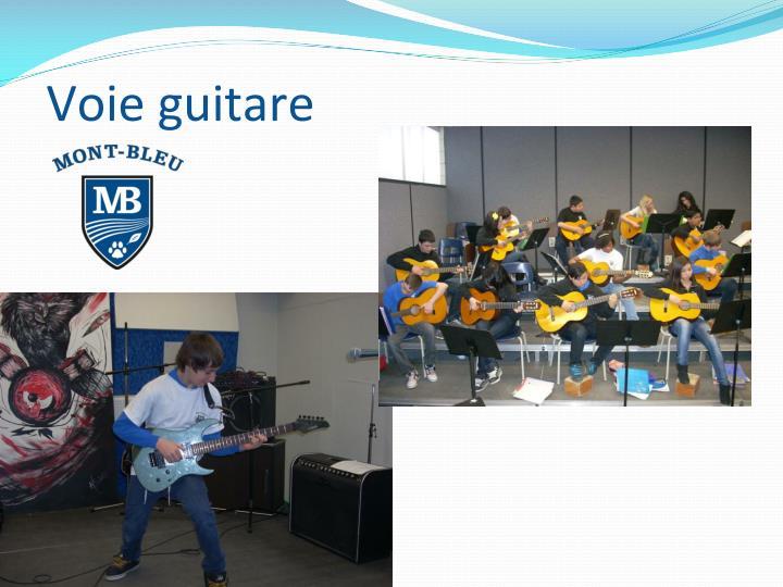 Voie guitare