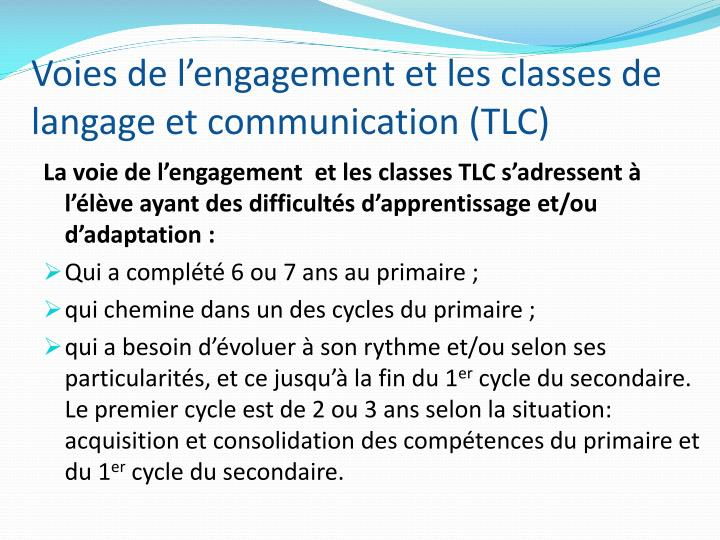 Voies de l'engagement