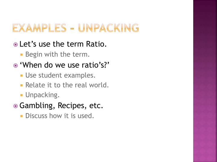 Examples - Unpacking
