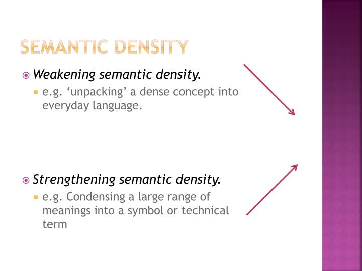 Semantic Density