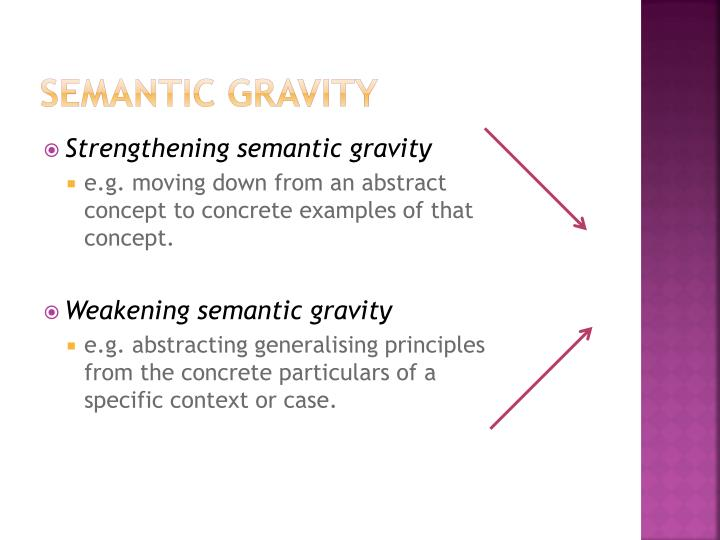 Semantic Gravity