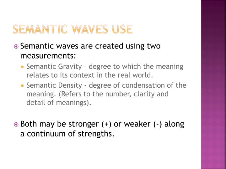Semantic Waves USE