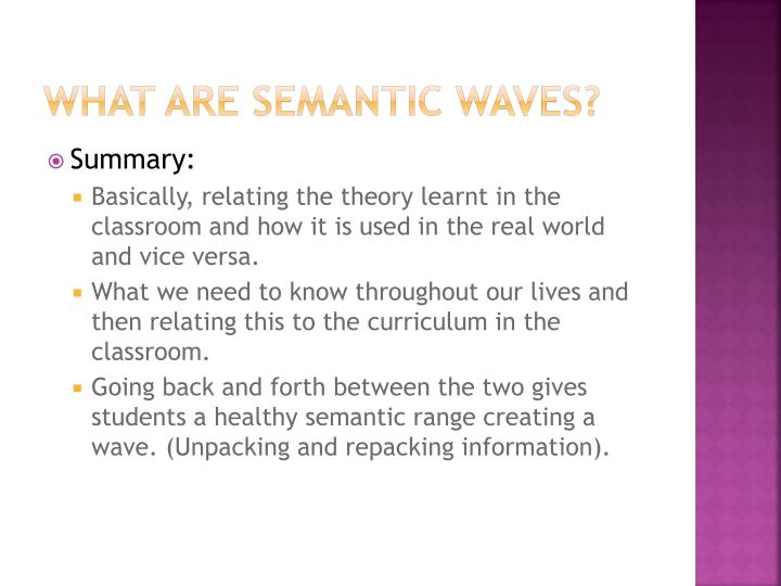 What Are Semantic Waves?