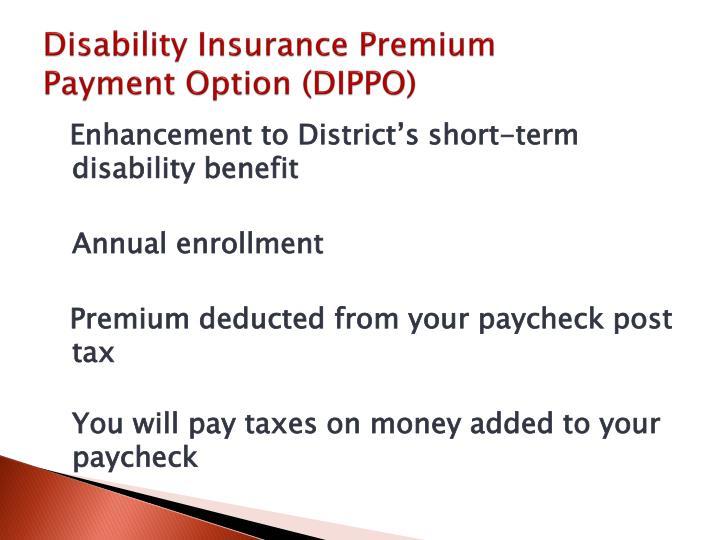 Disability Insurance Premium