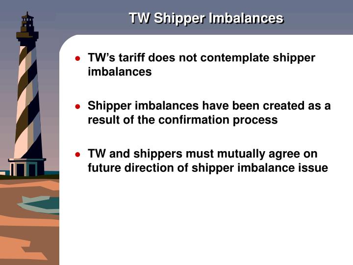 TW Shipper Imbalances