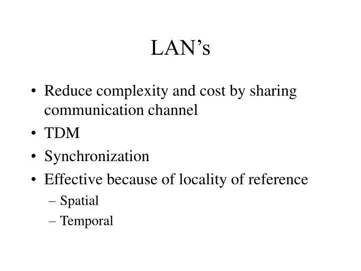 LAN's