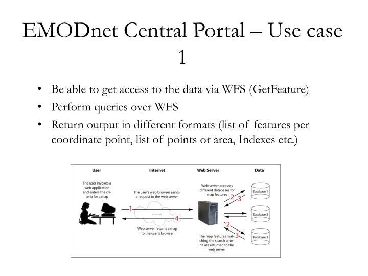 EMODnet Central Portal – Use case 1