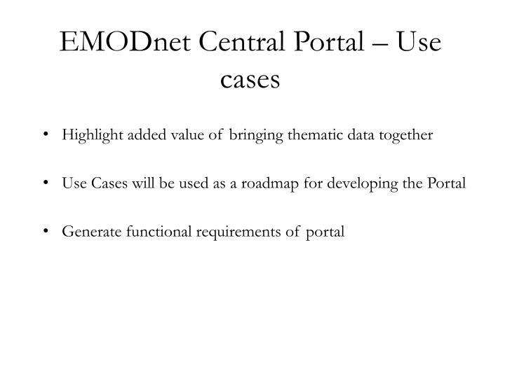 EMODnet Central Portal – Use cases