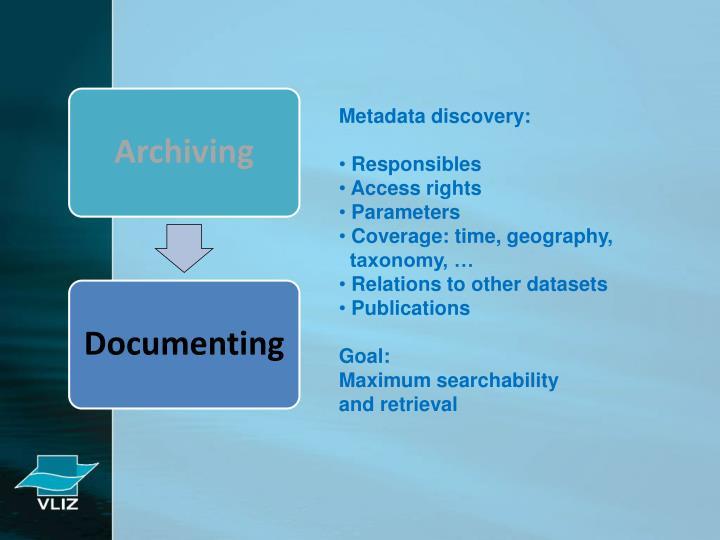 Metadata discovery: