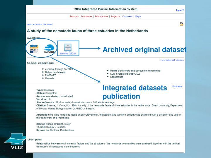 Archived original dataset