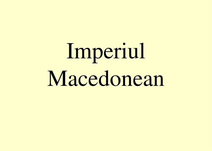 Imperiul macedonean