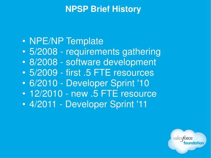 NPE/NP Template