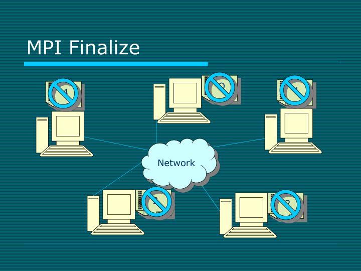 MPI Finalize