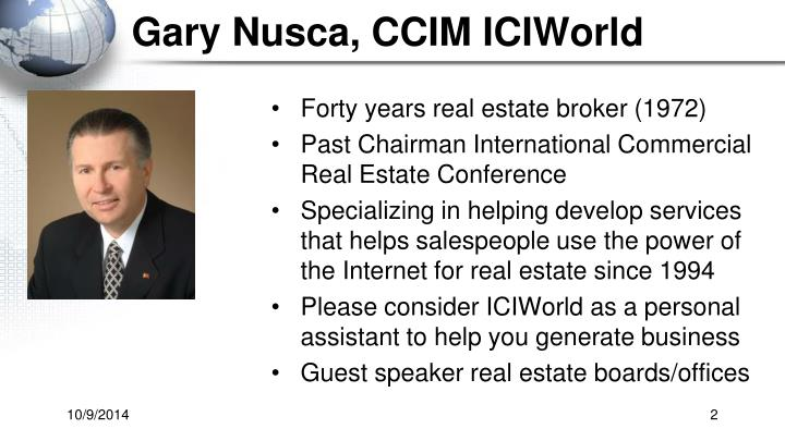 Gary Nusca, CCIM ICIWorld