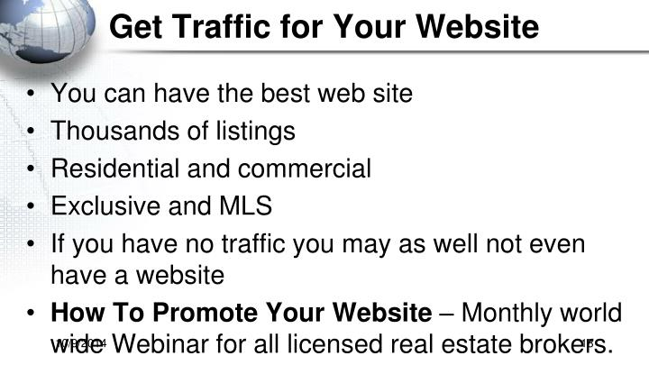 Get Traffic for Your Website