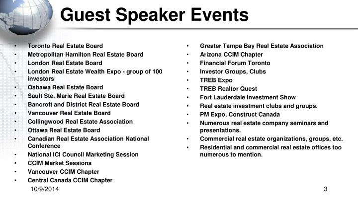 Guest Speaker Events