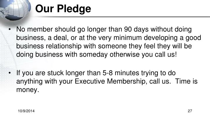 Our Pledge
