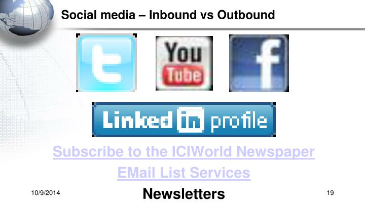 Social media – Inbound vs Outbound