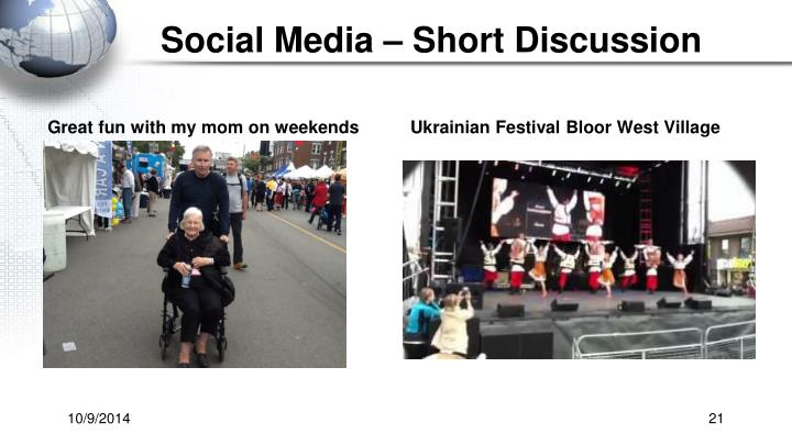 Social Media – Short Discussion