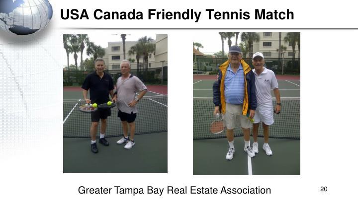 USA Canada Friendly Tennis Match
