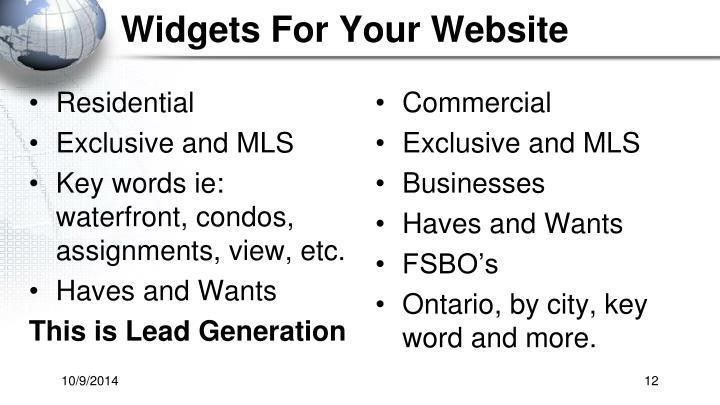 Widgets For Your Website