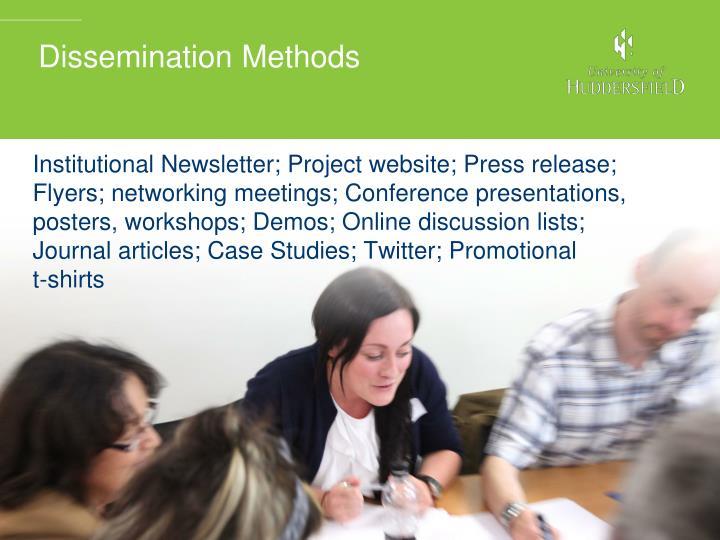 Dissemination Methods