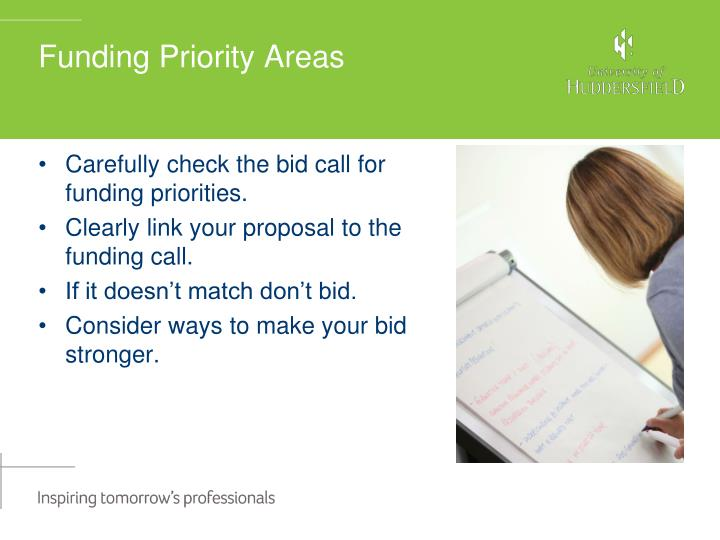Funding Priority Areas