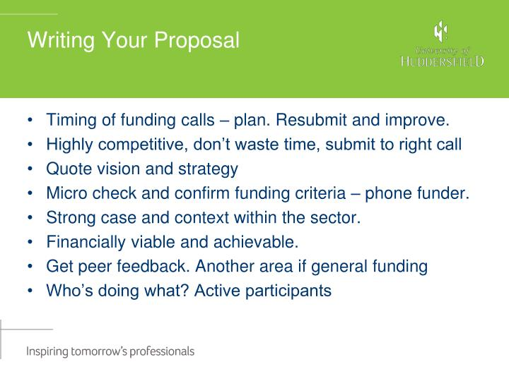 Writing Your Proposal
