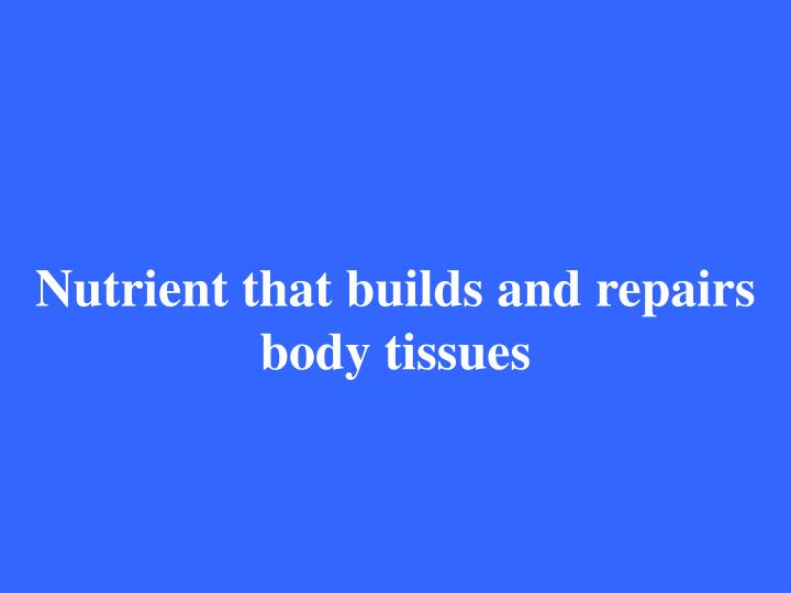 Nutrient that builds and repairs body tissues