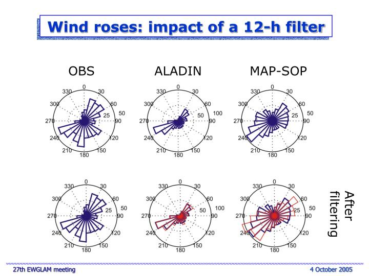 Wind roses: impact of a 12-h filter
