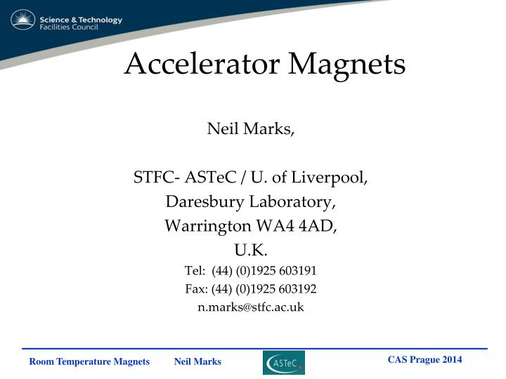 Accelerator Magnets