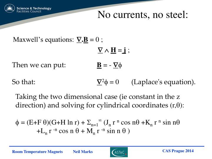 No currents, no steel: