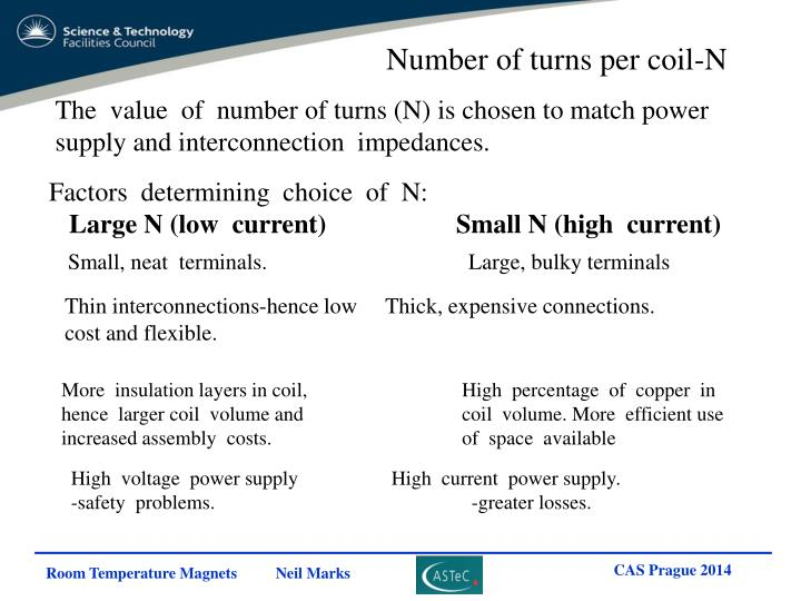 Number of turns per coil-N