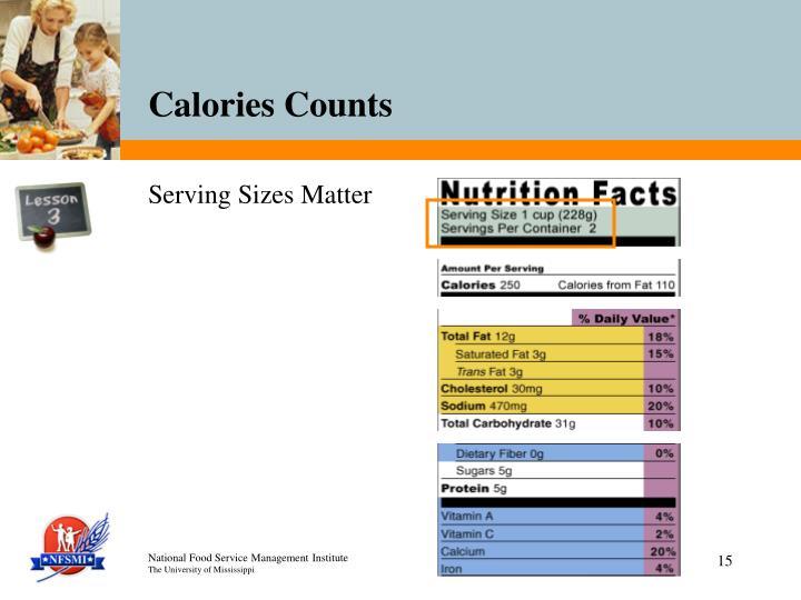 Serving Sizes Matter