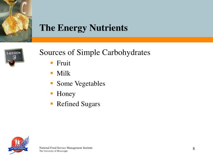 Sources of Simple Carbohydrates