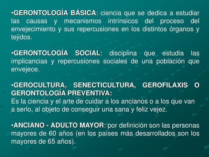 GERONTOLOGÍA BÁSICA