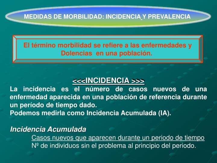 MEDIDAS DE MORBILIDAD: INCIDENCIA