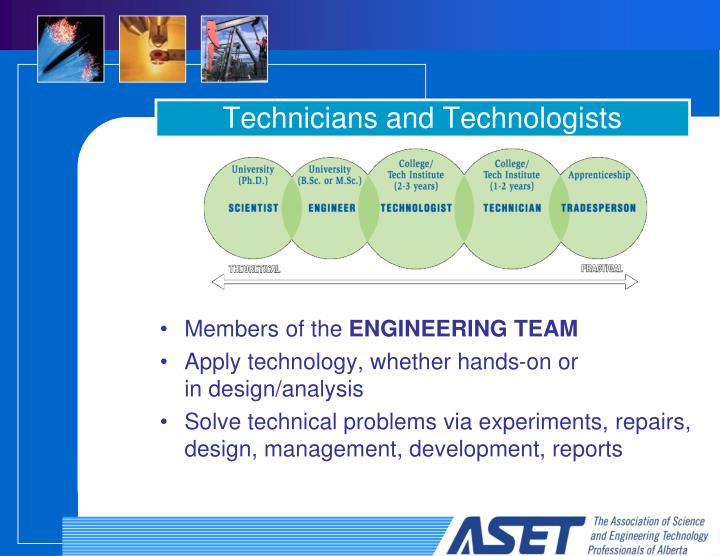 Technicians and technologists
