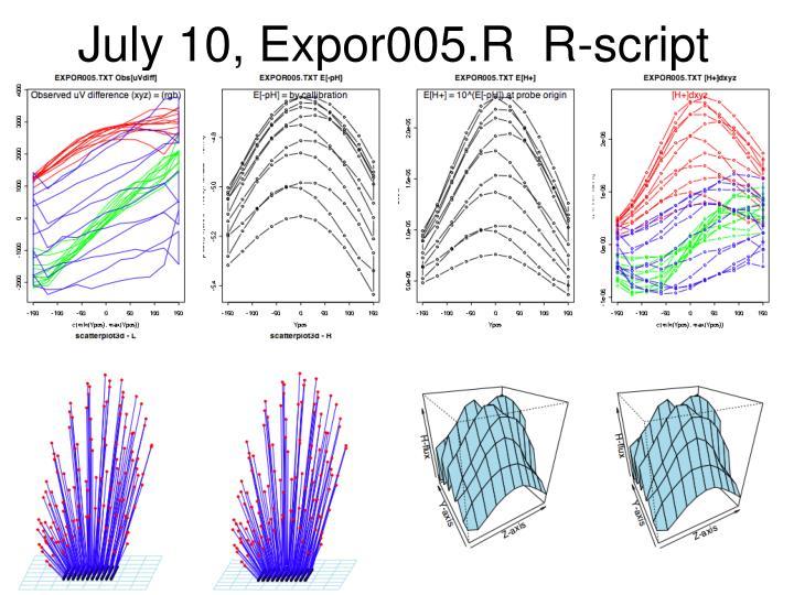 July 10, Expor005.R  R-script