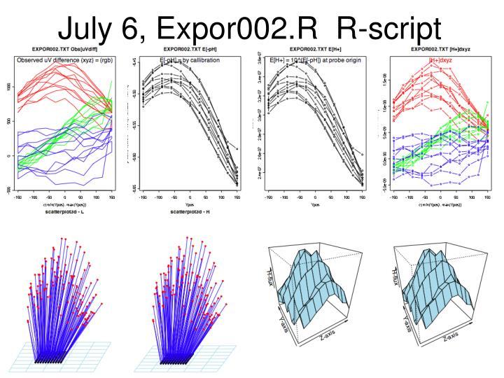 July 6, Expor002.R  R-script