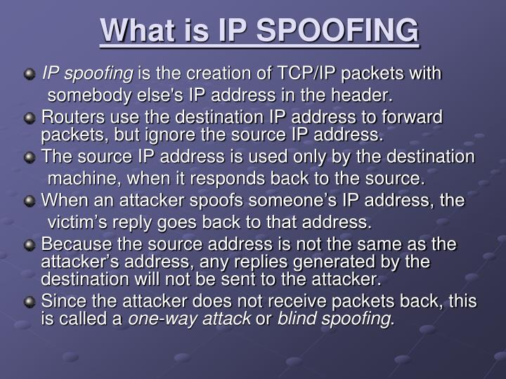 What is IP SPOOFING