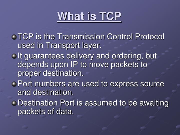 What is TCP