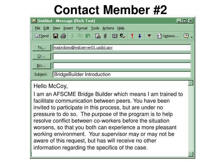 Contact Member #2