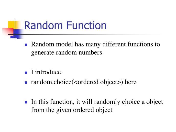 Random Function