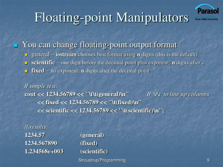 Floating-point Manipulators